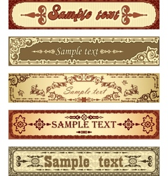 Set of retro banners vector image vector image