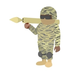 Soldier cartoon icon vector image