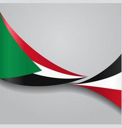 Sudan wavy flag vector