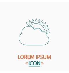 sun and cloud computer symbol vector image