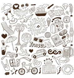 Travel - doodles collection vector