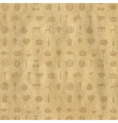 Vintage restaurant background vector