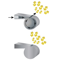 Whistle and money vector image