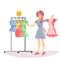 woman with cloths vector image