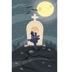 Zombie creeping out halloween vector