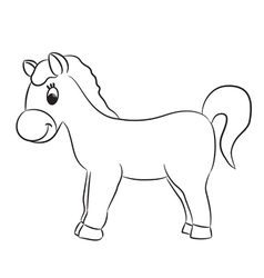 Cartoon horse for coloring vector