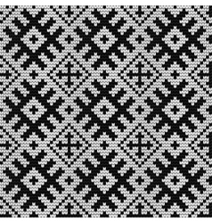 Traditional baltic knitting pattern vector