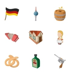 Republic of germany icons set cartoon style vector