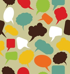 Retro speak bubbles vector image