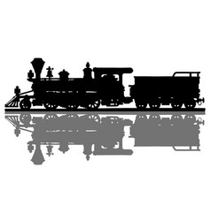 Old american steam locomotive vector