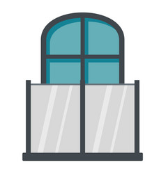 Balcony with a glass fence icon isolated vector
