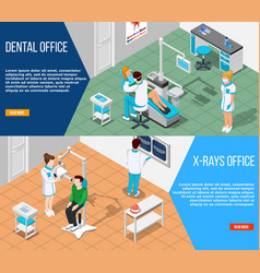 dental solutions banners set vector image
