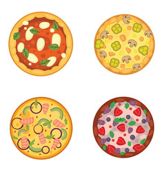 Thinly sliced pepperoni is a popular pizza vector