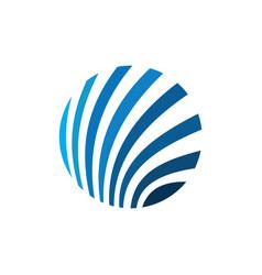 Abstract circle technology logo vector