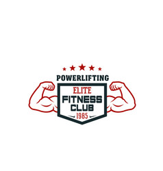 Fitness sport club and gym isolated icon design vector
