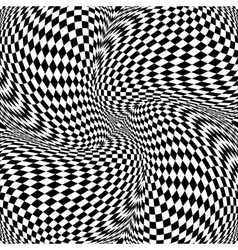 Design monochrome motion checkered background vector