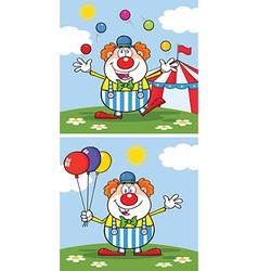 Cartoon clown design vector image