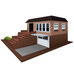 3d design for house with garage vector image vector image