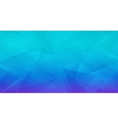 Abstract geometric polygonal blue background vector