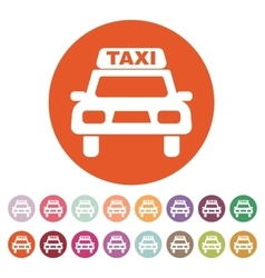 The taxi icon taxicab symbol flat vector