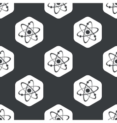 Black hexagon atom pattern vector