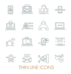 Hacker attack icons vector