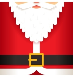 Santa claus beard belt greating card template flat vector