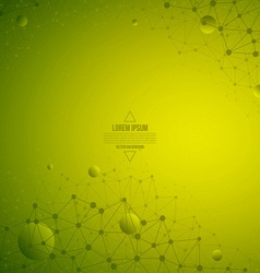 3d Abstract Technology Green Background vector image