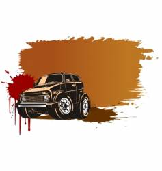 off-road vehicle vector image