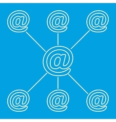 E-mail spreading line pictogram vector