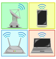 Connectivity icon set vector