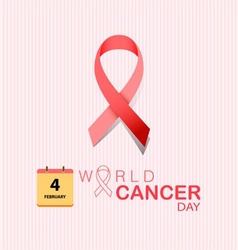 4 february world cancer day on pink background vector
