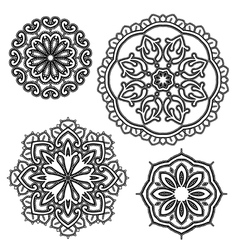 lace round 15 380 vector image