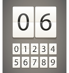 digits vector image