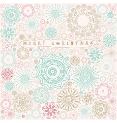 Vintage christmas card pattern vector