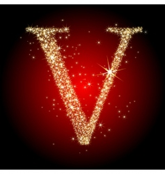 Letter star v vector