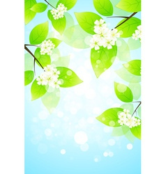 Abstract Background with Tree Branch vector image vector image