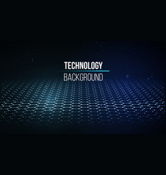 abstract technology background background 3d grid vector image vector image