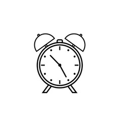 Alarm clock line icon school and office element vector
