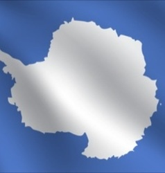 Antarctica flag vector