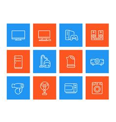 Appliances icons consumer electronics vector