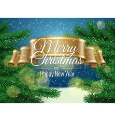 Background for Christmas card vector image