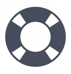 Black Lifebuoy Icon vector image vector image