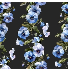 Blue flowers 1 vector