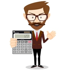 Businessman or Accountant with a Calculator vector image vector image