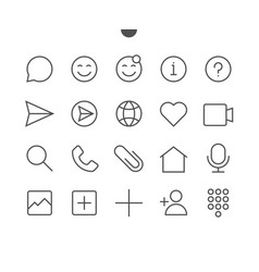 chat ui pixel perfect well-crafted thin vector image