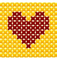 Cross Stitch Heart vector image vector image