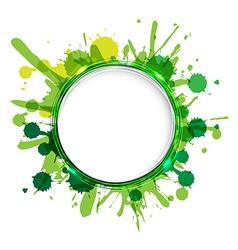 Dialog Balloons With Green Blobs vector image