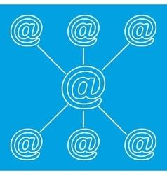 E-mail spreading line pictogram vector