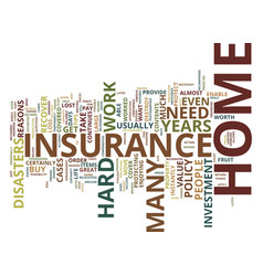four reasons why you need to buy home insurance vector image
